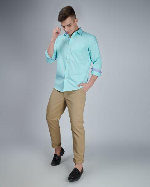 Sky Blue Office Wear Shirt