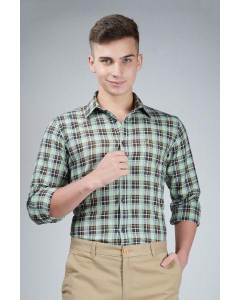 Explore Green Checked Shirt