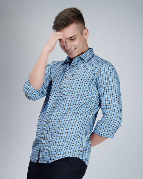 Ocean Blue Checked Shirt