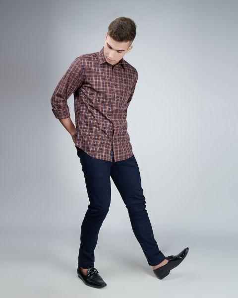 Explore Brown Check Shirt