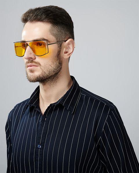 VYMAG Basic Stretch Navy Stripe Shirt