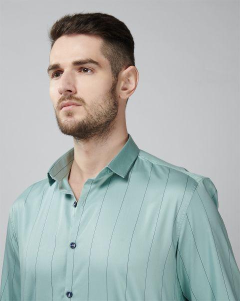 VYMAG Mint Green Spaced Stripe Shirt