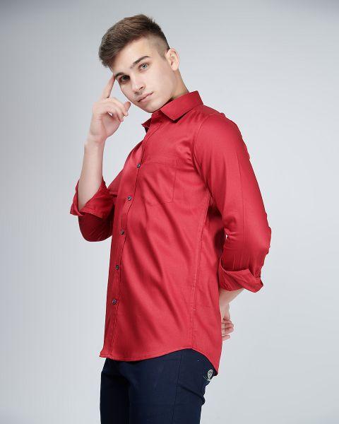 Versatile Red Power Shirt