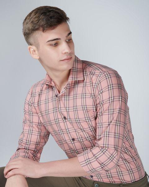 Shadow Pink Check Shirt