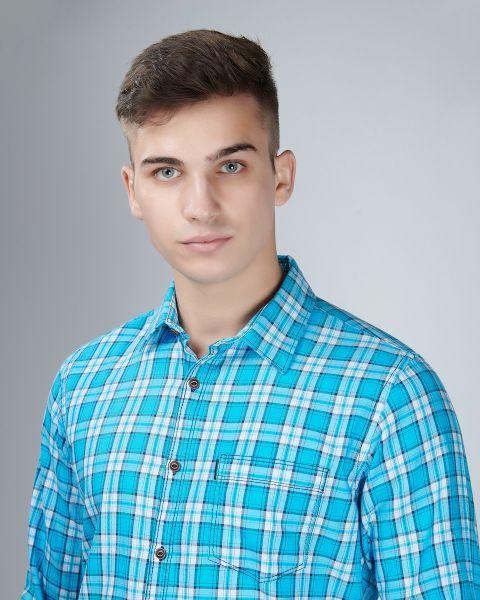 Blue Like Sky Checked Shirt
