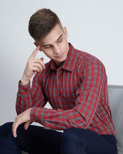 Red&White Check Shirt