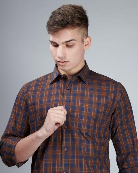 Vintage Brown Check Shirt